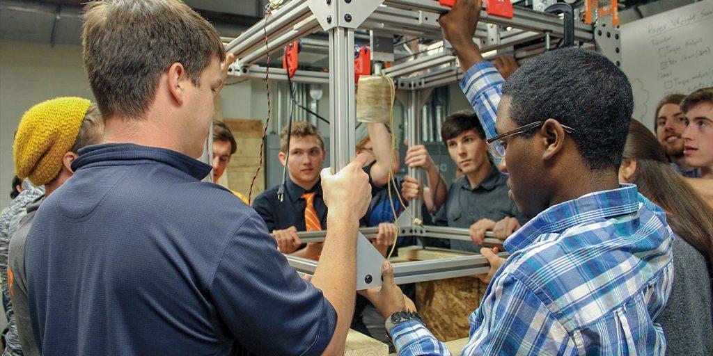 Undergraduate Students Work on the Mars Ice Challenge Project